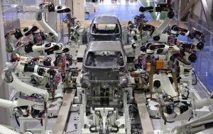 Kawasaki robotics cadena de montaje automoción larraioz elektronika argentina